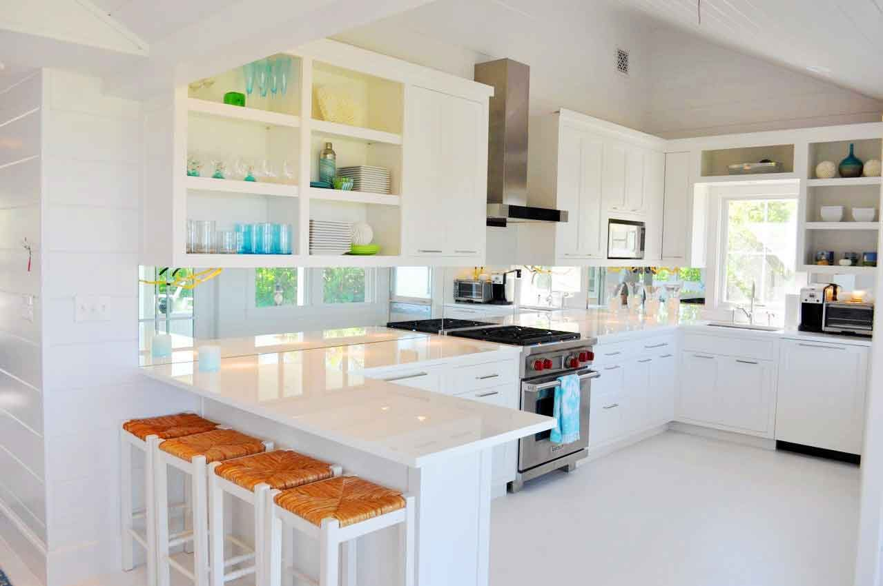 Charming Kitchens White Cabinets Wood Floors