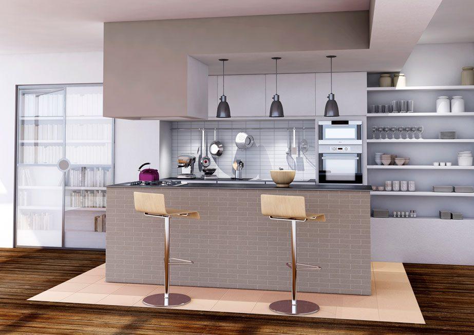 Galer a de im genes cocinas con office - Cocinas con office fotos ...