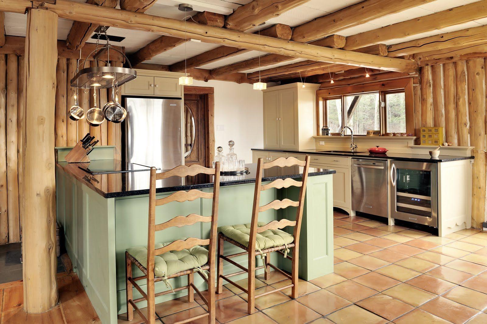 Cocina con vigas de madera im genes y fotos - Cocinas rusticas de madera ...