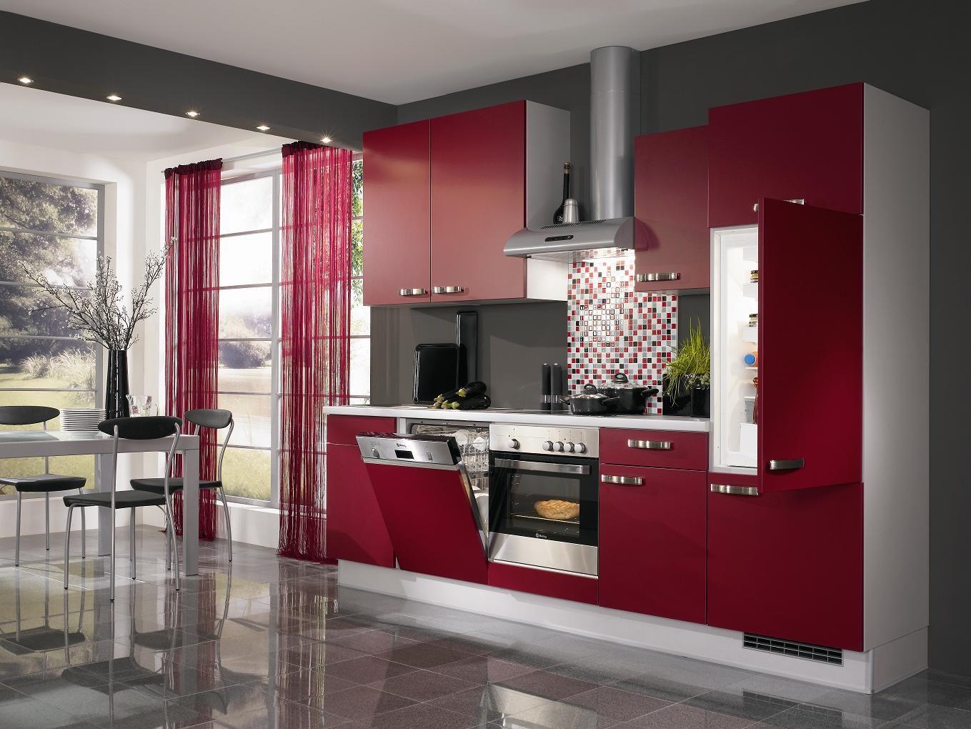 Cocina De Color Rojo Imagenes Y Fotos - Colores-de-cocina