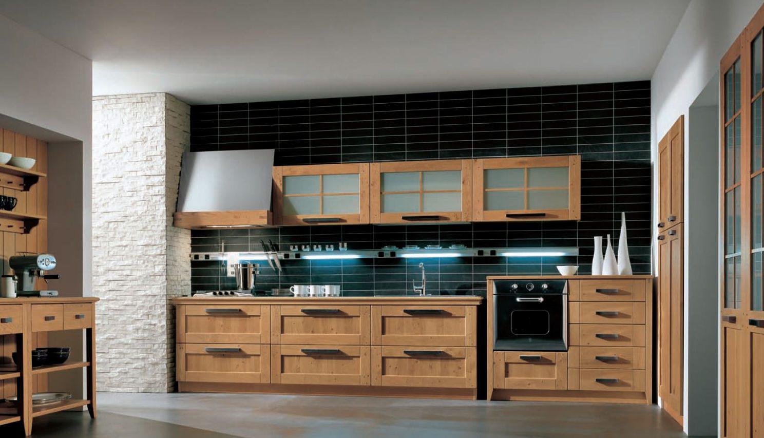 De reposteros para cocinas modernas con desayunador for Muebles de cocina de madera