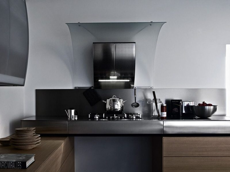 Cocina de materiales modernos im genes y fotos for Material cocina