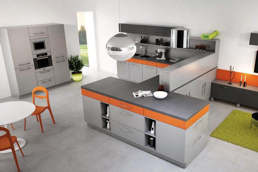 Cocina de tonos naranjas :: Imágenes y fotos