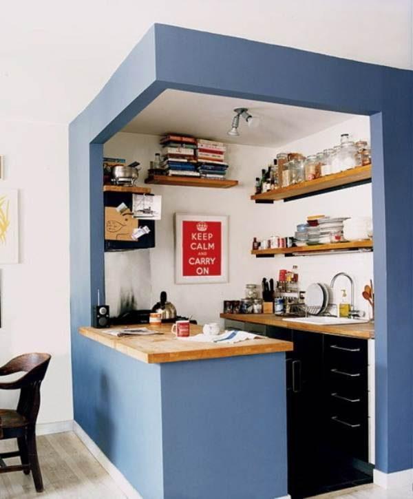 Cocina integrada en el sal n im genes y fotos Como organizar una cocina pequena fotos