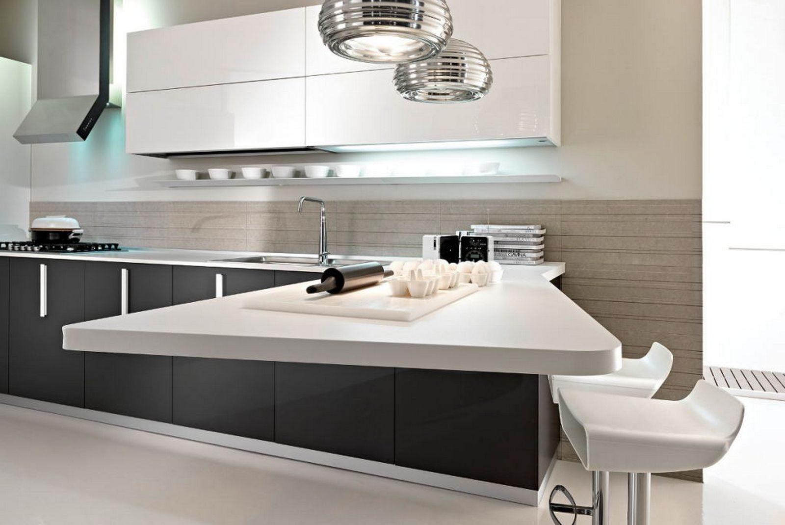 Style Kitchen Simple Futuristic Cocina Moderna Con Barra Americana Im Genes Y Fotos