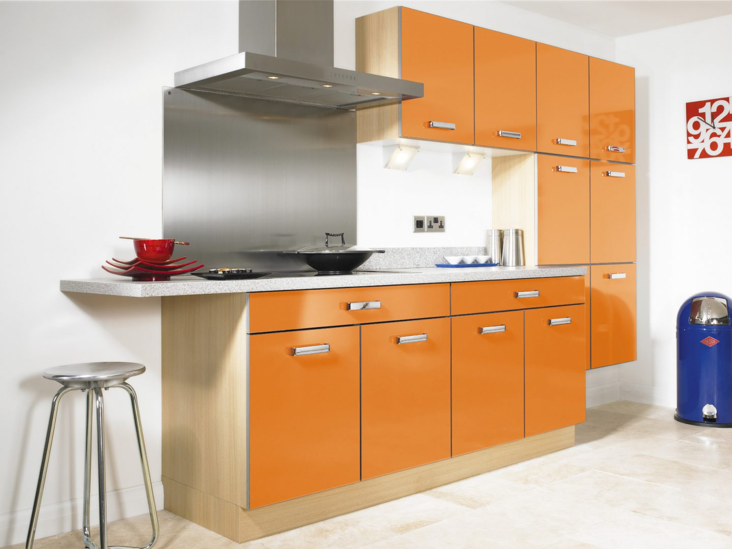 Style Kitchen Simple Futuristic Cocina Naranja Im Genes Y Fotos