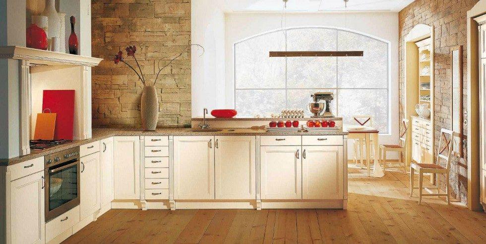 Cocina rústica de tonos blancos :: Imágenes y fotos
