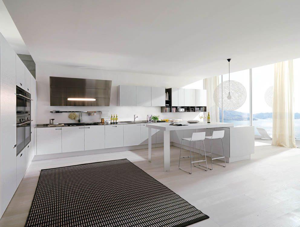 Decoraci n de cocinas blancas for Imagenes cocinas blancas