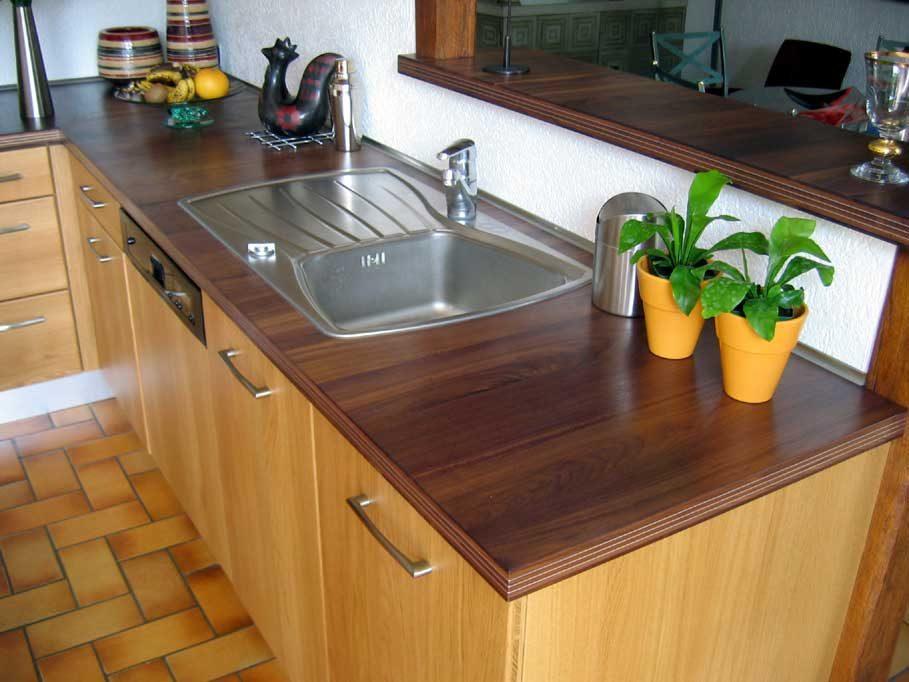 Encimera de cocina de madera im genes y fotos - Cocina encimera madera ...