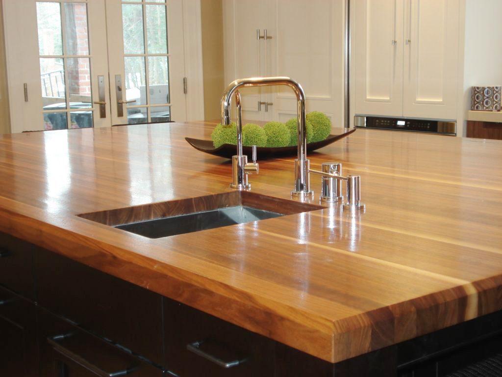 Encimera de madera para la cocina im genes y fotos - Cocina encimera madera ...