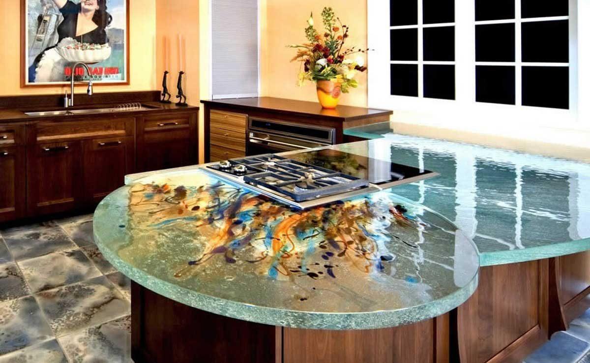 Encimeras de cocina de vidrio de dise o im genes y fotos - Encimeras de cocina de cristal ...
