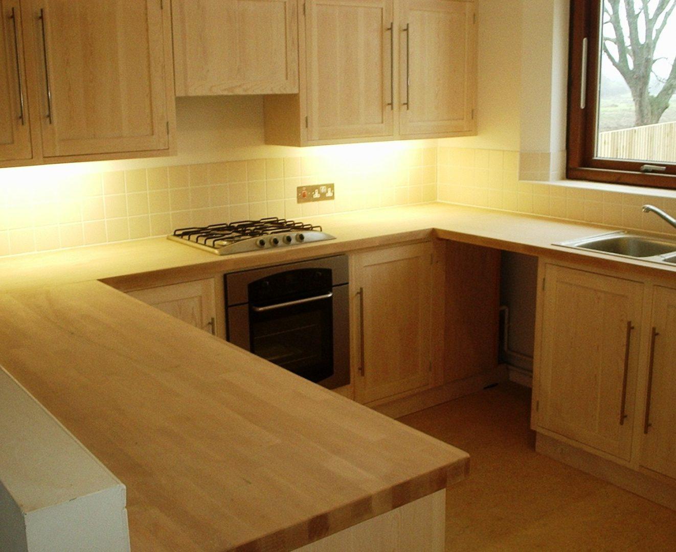 Encimera madera cocina cocina pequea blanca madera - Encimera madera cocina ...