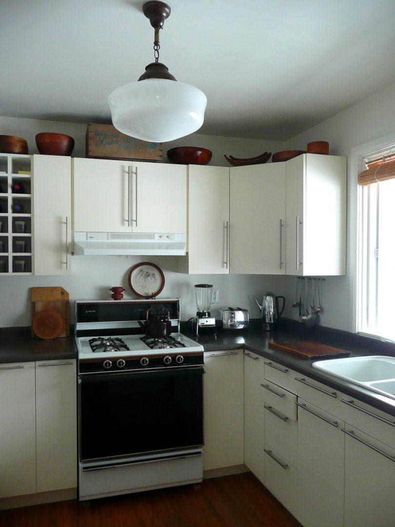 Ganar espacio en cocinas peque as im genes y fotos - Cocinas rectangulares pequenas ...