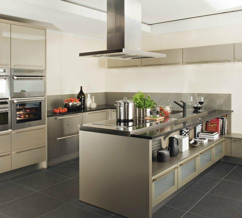 Isla de cocina y zona de cocci n im genes y fotos for Modelos de cocinas modernas americanas