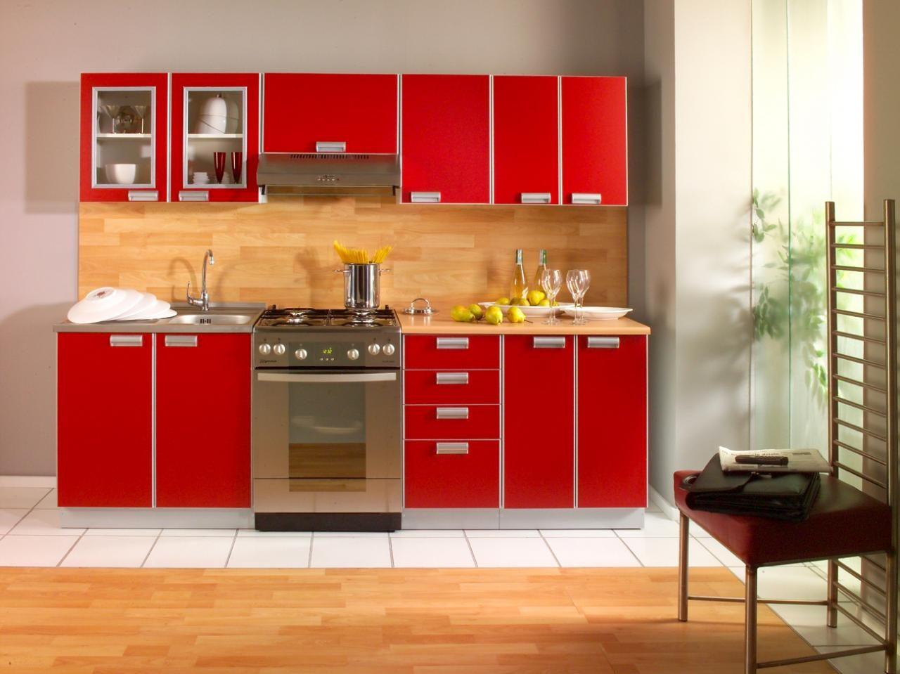 Mobiliario de cocina rojo :: Imágenes y fotos