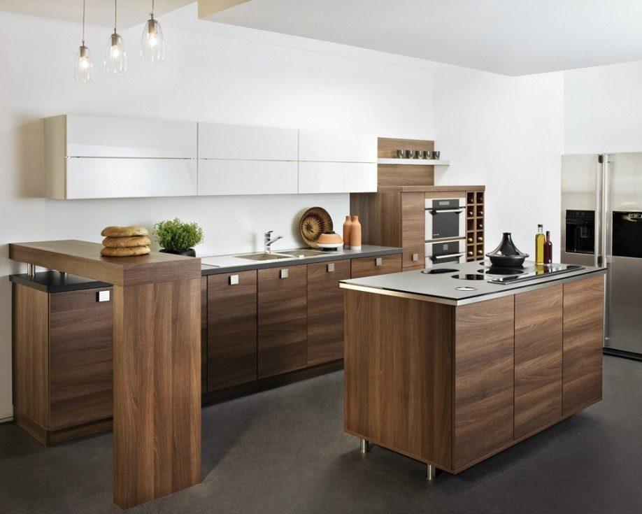 Mobiliario de madera en una cocina americana :: Imágenes y fotos