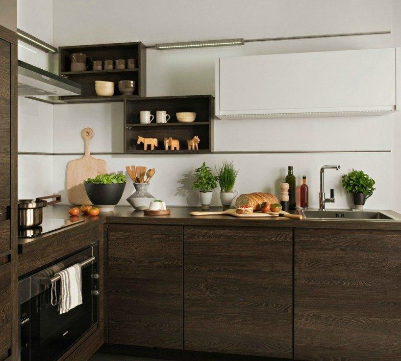 Muebles de madera modernos im genes y fotos for Muebles de cocina pequena modernos