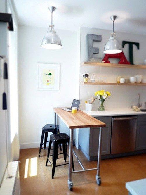 Muebles multifuncionales para la cocina im genes y fotos for Studio kitchen ideas for small spaces