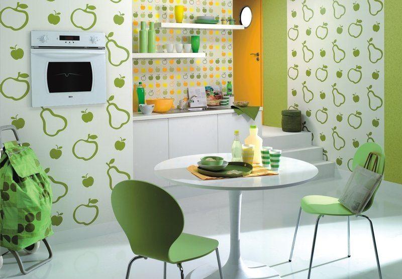 Papel pintado de frutas colorido im genes y fotos - Papel vinilico para cocinas ...