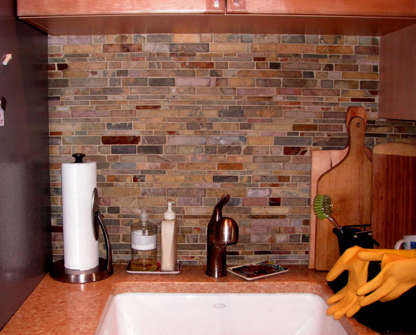 Galer a de im genes revestimientos para la pared de la cocina - Imagenes para paredes ...