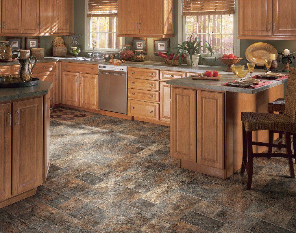 suelo de cocina rustico