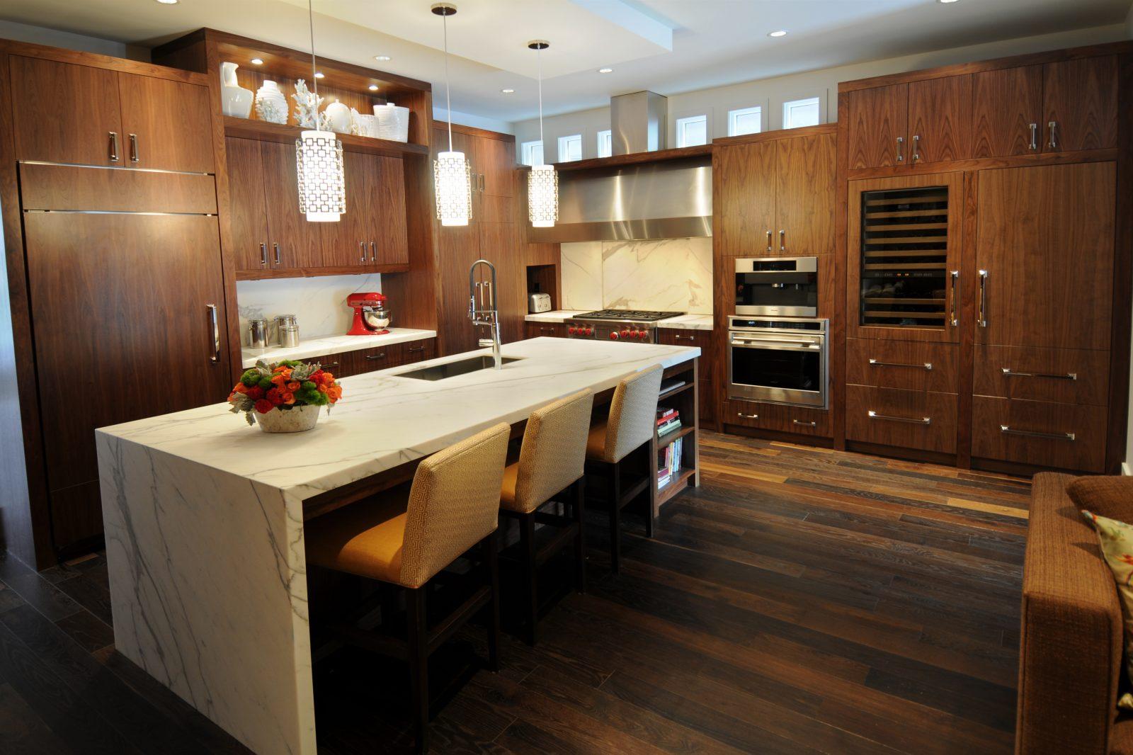 Encimeras de granito madera m rmol y melamina for Muebles de cocina tipo isla