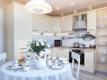 Cocinas Pequenas Con Muebles Blancos.Cocina Clasica Con Muebles Blancos Imagenes Y Fotos