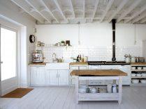 Cocina rústica con madera blanca :: Imágenes y fotos