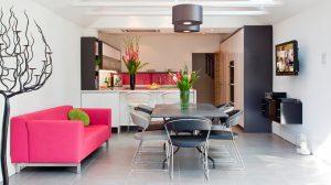 Cocinas de estilo minimalista for Cocina americana y salon