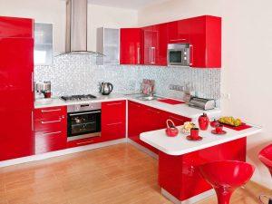C mo elegir el color de la cocina for Mesa de cocina esquinera