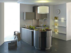 Tipos de distribuciones de cocinas for Cocinas alargadas y estrechas fotos